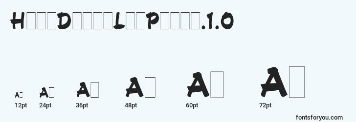 sizes of handdrawnletplain.1.0 font, handdrawnletplain.1.0 sizes