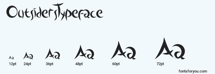 sizes of outsiderstypeface font, outsiderstypeface sizes