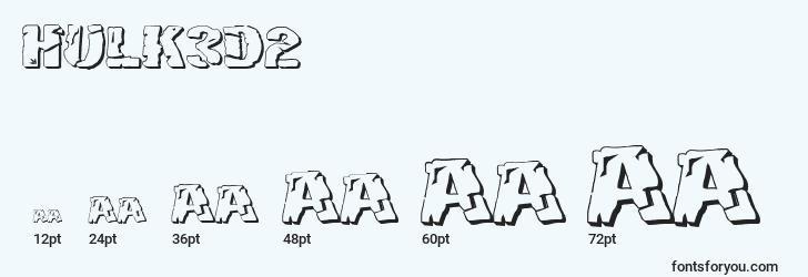 sizes of hulk3d2 font, hulk3d2 sizes