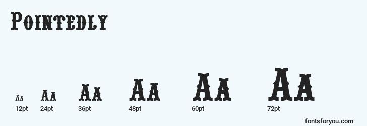 sizes of pointedly font, pointedly sizes