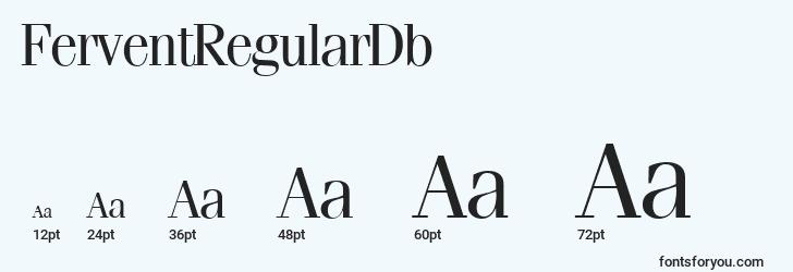 sizes of ferventregulardb font, ferventregulardb sizes