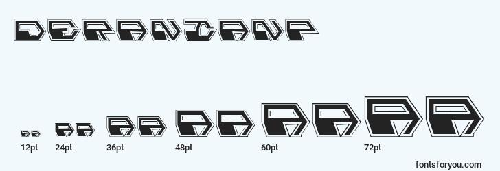 sizes of deranianp font, deranianp sizes