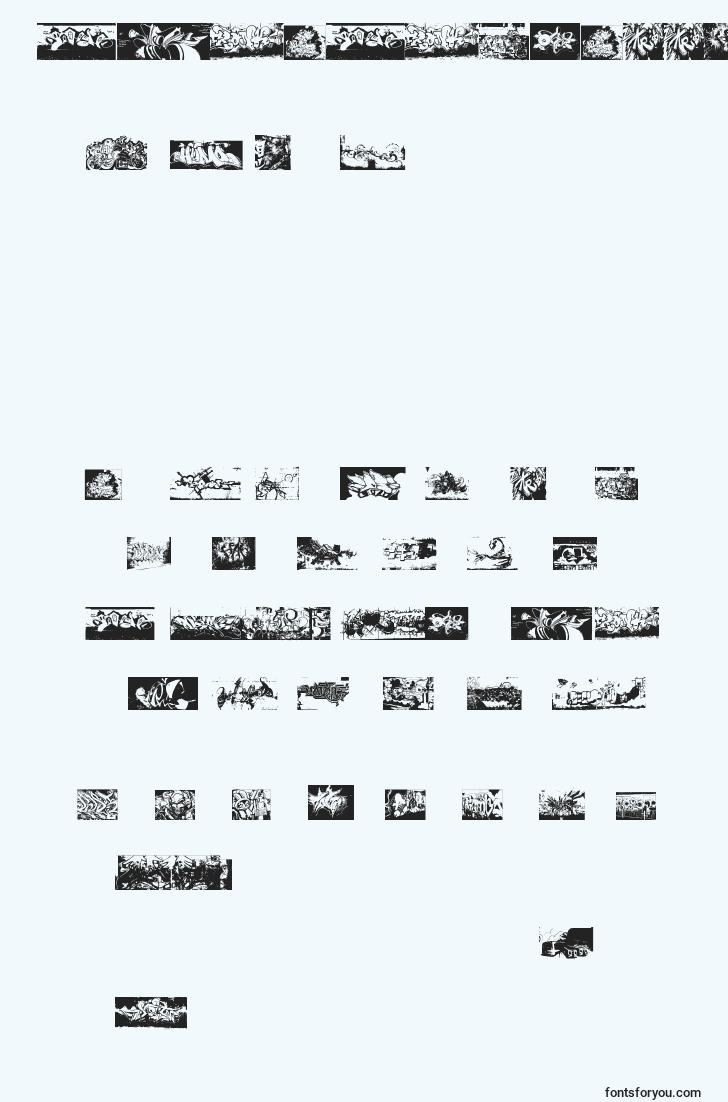 characters of instantgraffitication font, letter of instantgraffitication font, alphabet of  instantgraffitication font