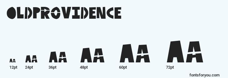 sizes of oldprovidence font, oldprovidence sizes