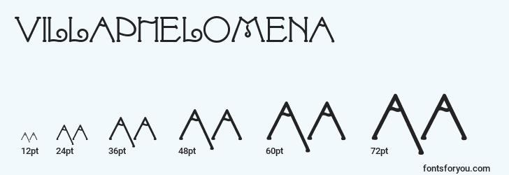 sizes of villaphelomena font, villaphelomena sizes