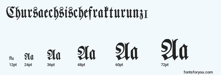 sizes of chursaechsischefrakturunz1 font, chursaechsischefrakturunz1 sizes