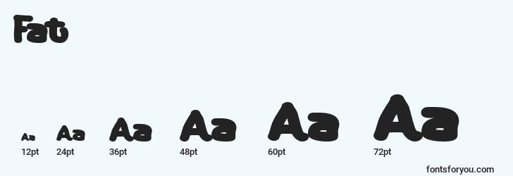 sizes of fat font, fat sizes