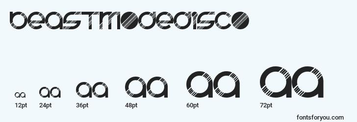 sizes of beastmodedisco font, beastmodedisco sizes
