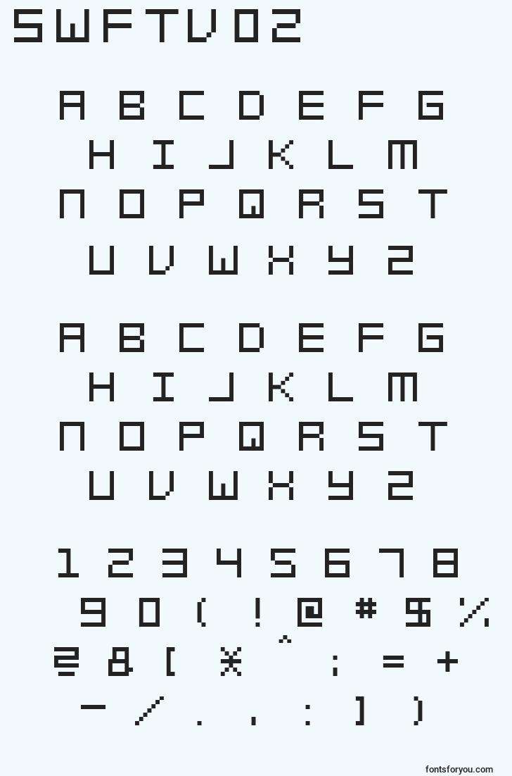 characters of swftv02 font, letter of swftv02 font, alphabet of  swftv02 font