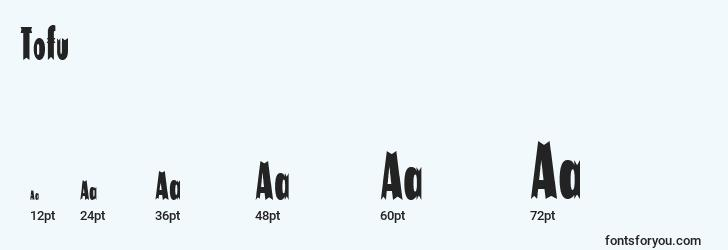 sizes of tofu font, tofu sizes