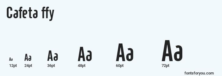 sizes of cafeta ffy font, cafeta ffy sizes