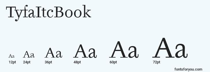 sizes of tyfaitcbook font, tyfaitcbook sizes