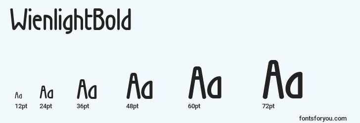 sizes of wienlightbold font, wienlightbold sizes