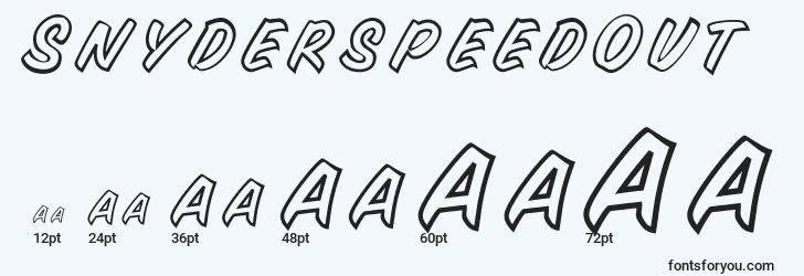 sizes of snyderspeedout font, snyderspeedout sizes