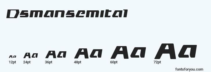 sizes of dsmansemital font, dsmansemital sizes