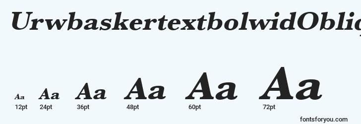 sizes of urwbaskertextbolwidoblique font, urwbaskertextbolwidoblique sizes
