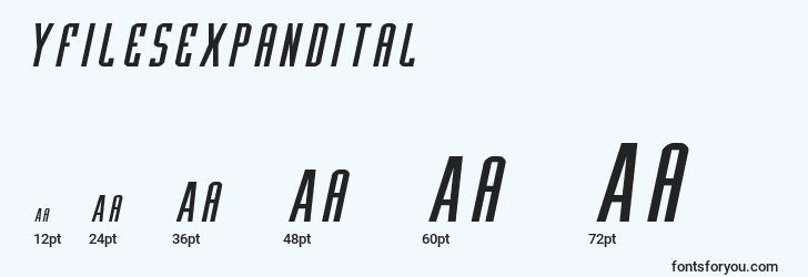 sizes of yfilesexpandital font, yfilesexpandital sizes