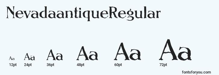 sizes of nevadaantiqueregular font, nevadaantiqueregular sizes