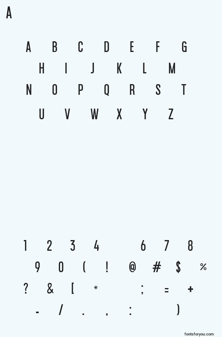 characters of americanatest font, letter of americanatest font, alphabet of  americanatest font