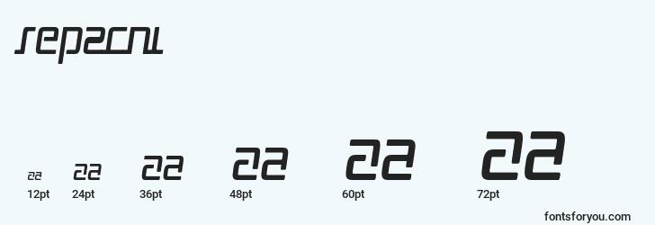 sizes of rep2cni font, rep2cni sizes