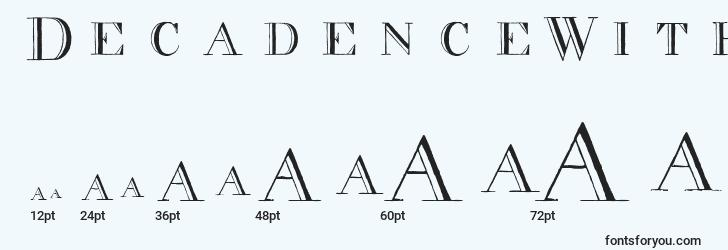 sizes of decadencewithoutthediamonds font, decadencewithoutthediamonds sizes