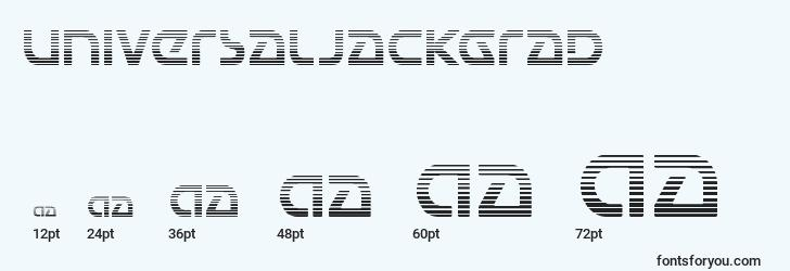 sizes of universaljackgrad font, universaljackgrad sizes