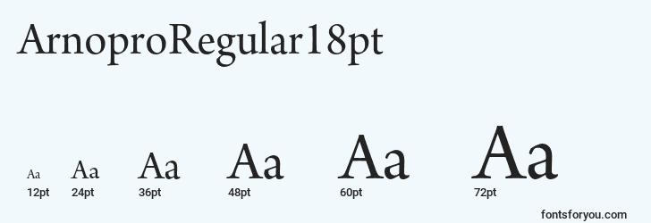 sizes of arnoproregular18pt font, arnoproregular18pt sizes