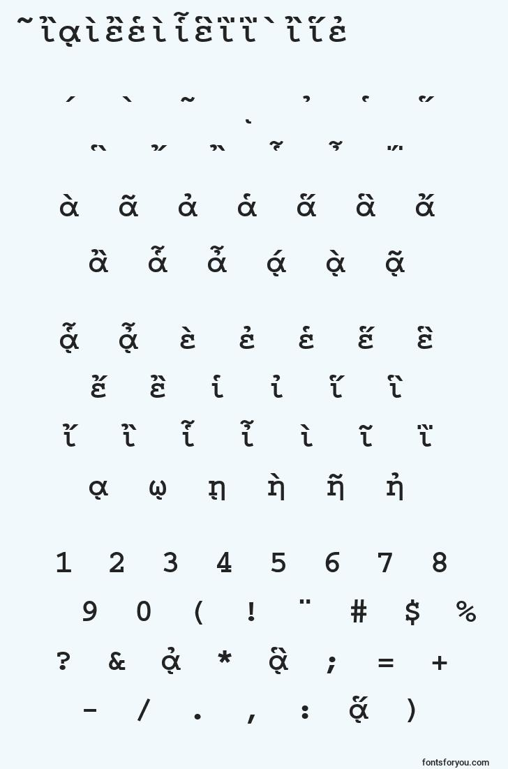 characters of courierpgttbold font, letter of courierpgttbold font, alphabet of  courierpgttbold font