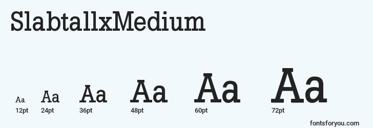 sizes of slabtallxmedium font, slabtallxmedium sizes
