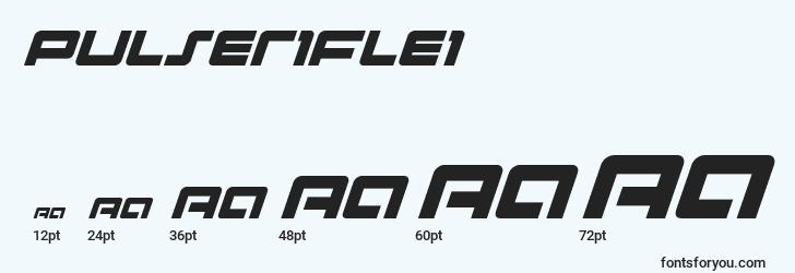 sizes of pulseriflei font, pulseriflei sizes