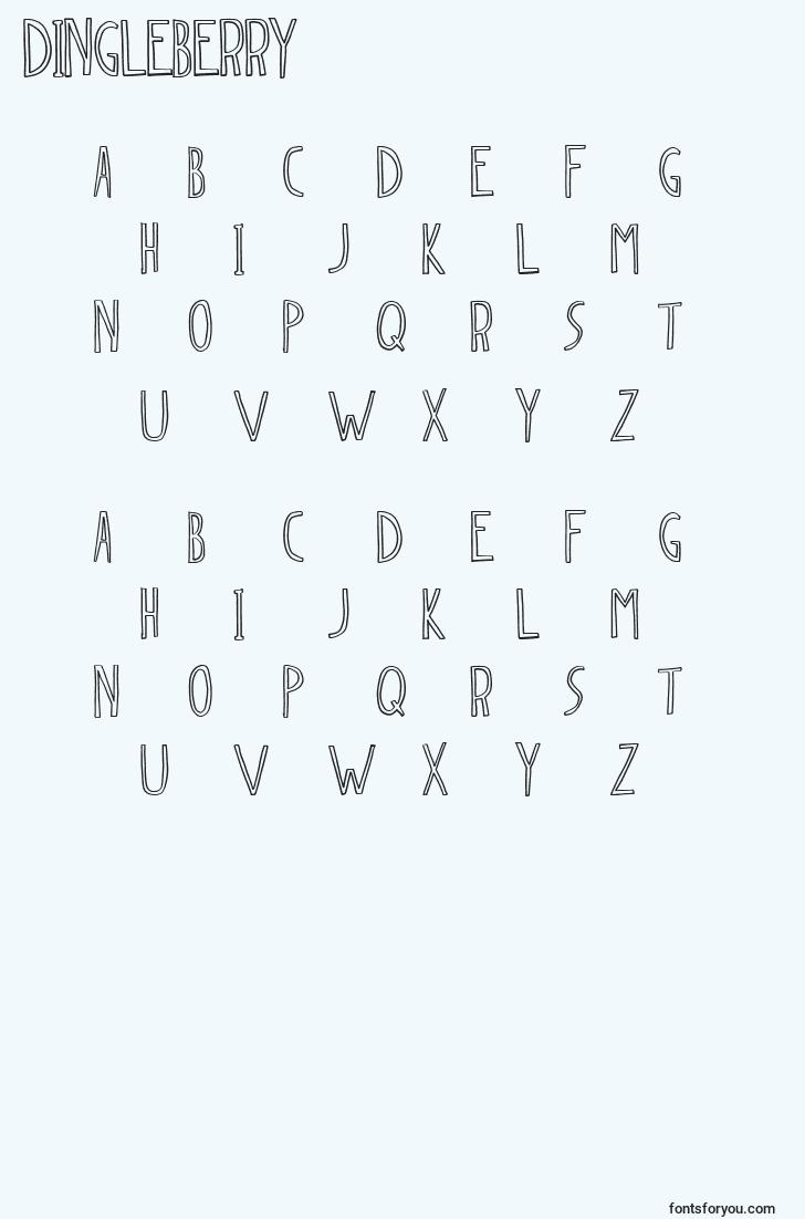characters of dingleberry font, letter of dingleberry font, alphabet of  dingleberry font