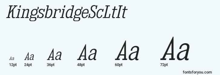 sizes of kingsbridgescltit font, kingsbridgescltit sizes