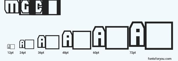 sizes of madgrooveclean font, madgrooveclean sizes