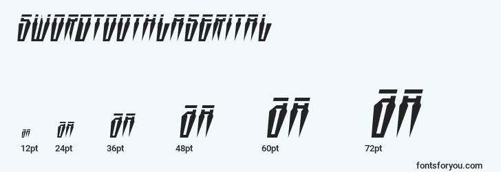 sizes of swordtoothlaserital font, swordtoothlaserital sizes