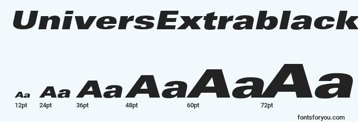sizes of universextrablackextobl font, universextrablackextobl sizes