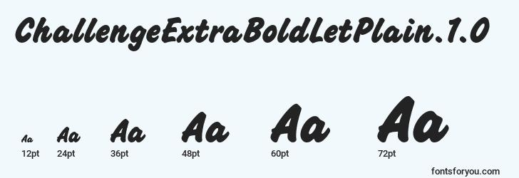 sizes of challengeextraboldletplain.1.0 font, challengeextraboldletplain.1.0 sizes