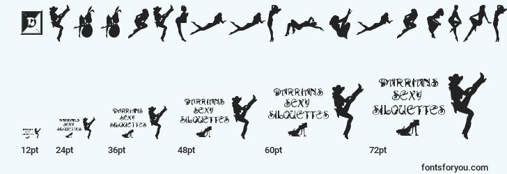 sizes of darrianssexysilouettes font, darrianssexysilouettes sizes