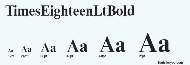 sizes of timeseighteenltbold font, timeseighteenltbold sizes