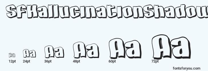 sizes of sfhallucinationshadow font, sfhallucinationshadow sizes