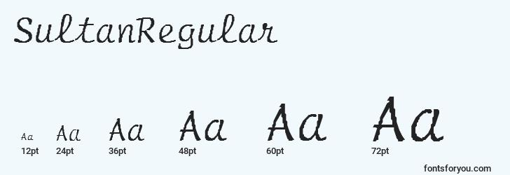sizes of sultanregular font, sultanregular sizes