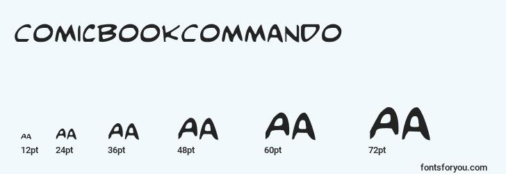 sizes of comicbookcommando font, comicbookcommando sizes