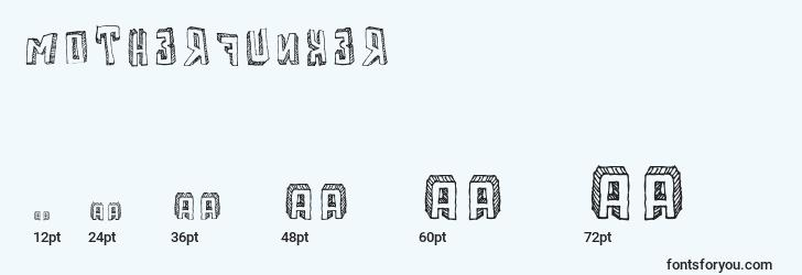 sizes of motherfunker font, motherfunker sizes