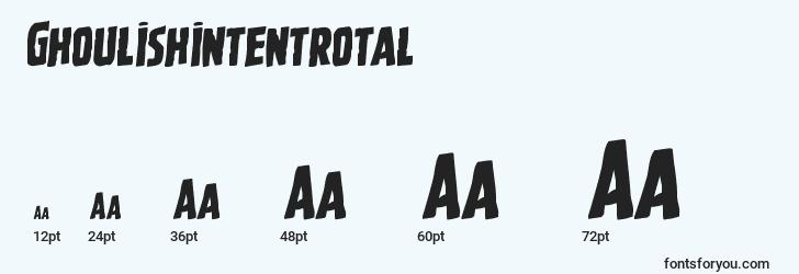sizes of ghoulishintentrotal font, ghoulishintentrotal sizes