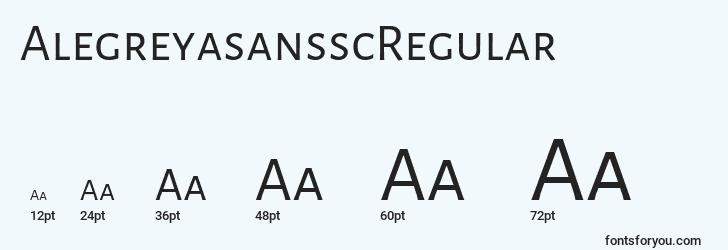 sizes of alegreyasansscregular font, alegreyasansscregular sizes