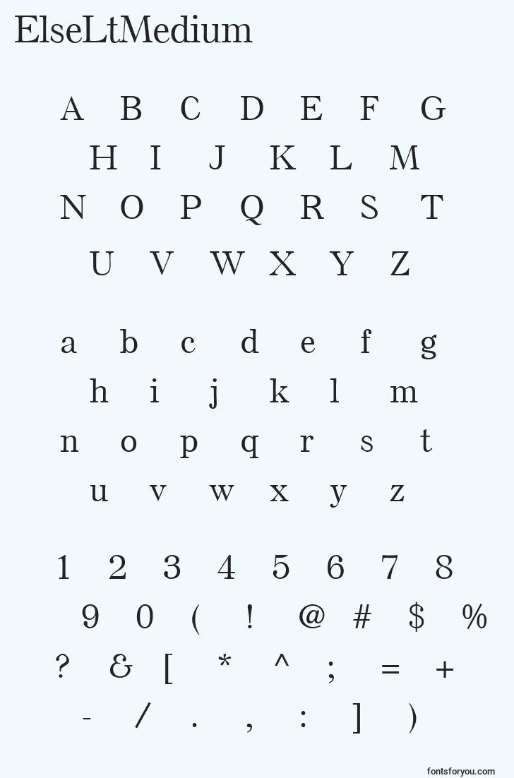 characters of elseltmedium font, letter of elseltmedium font, alphabet of  elseltmedium font