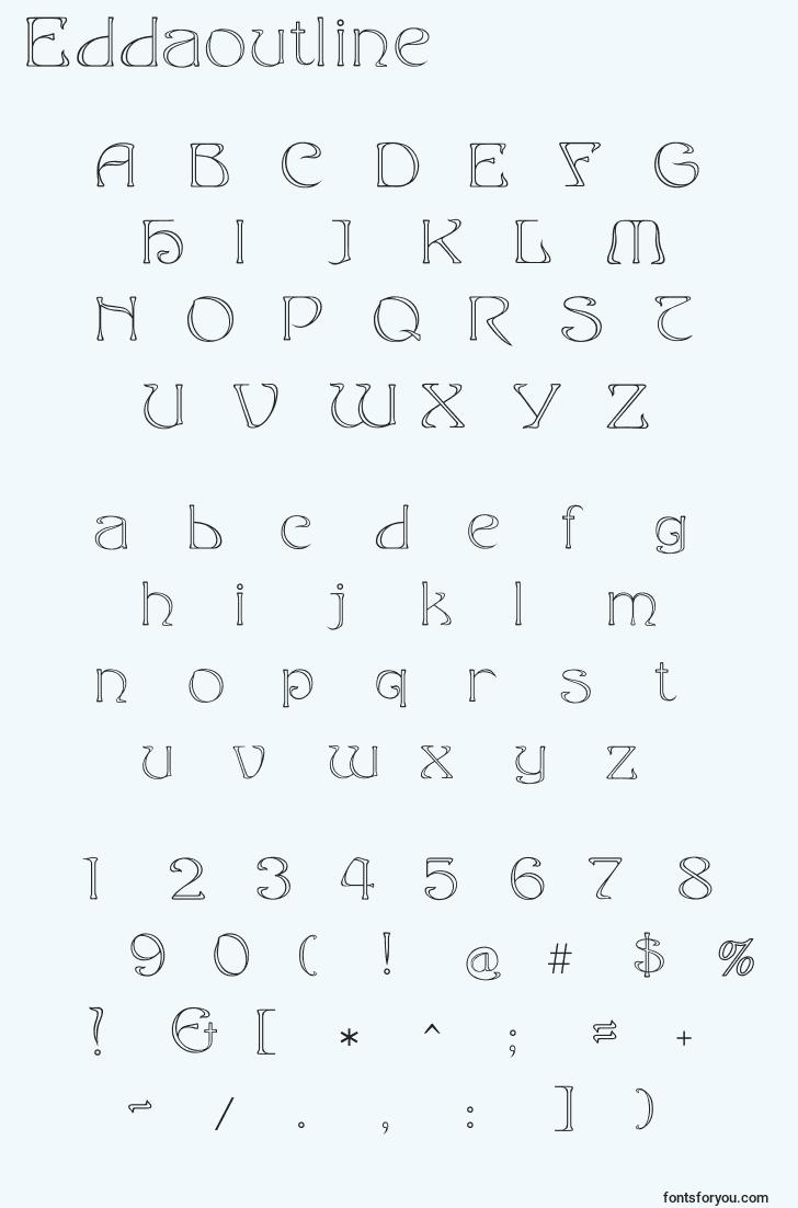 characters of eddaoutline font, letter of eddaoutline font, alphabet of  eddaoutline font