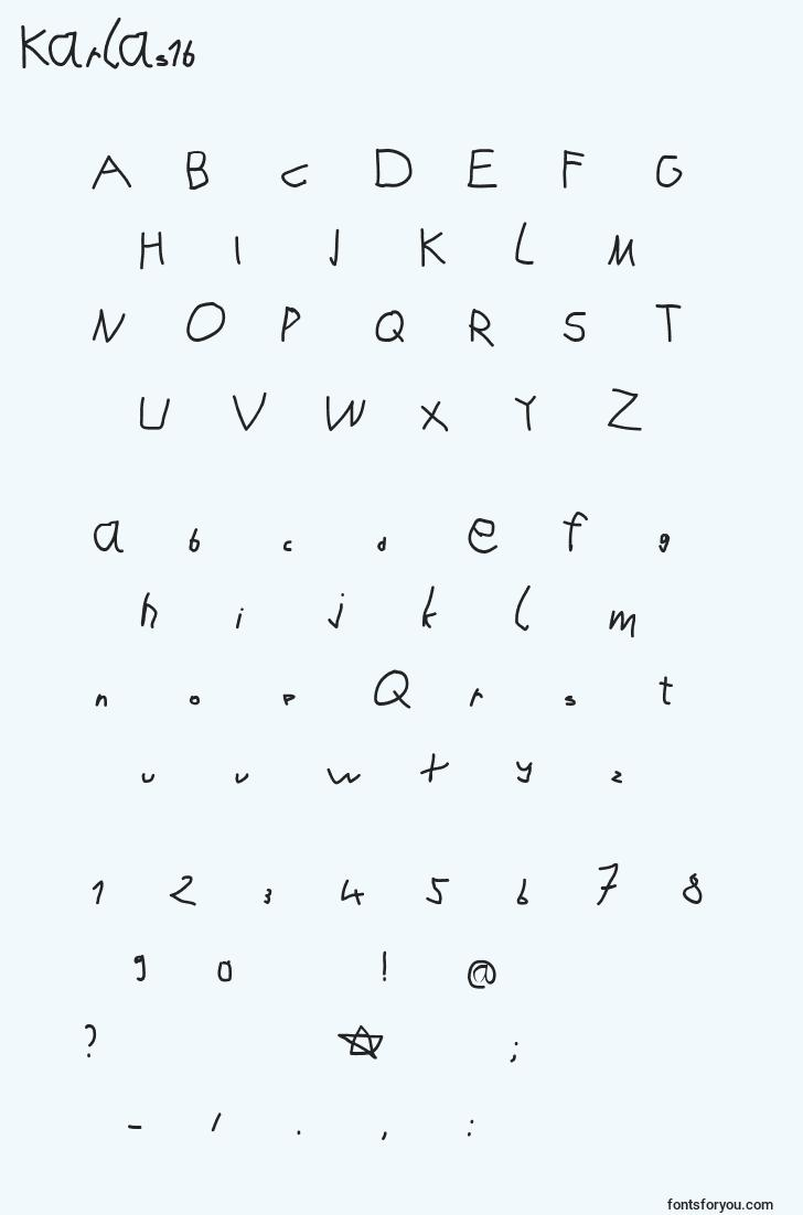 characters of karlas1b font, letter of karlas1b font, alphabet of  karlas1b font