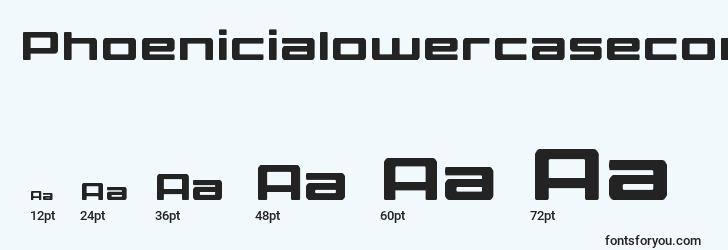 sizes of phoenicialowercasecond font, phoenicialowercasecond sizes