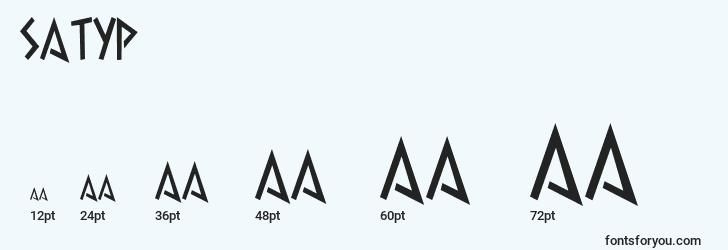 sizes of satyp font, satyp sizes
