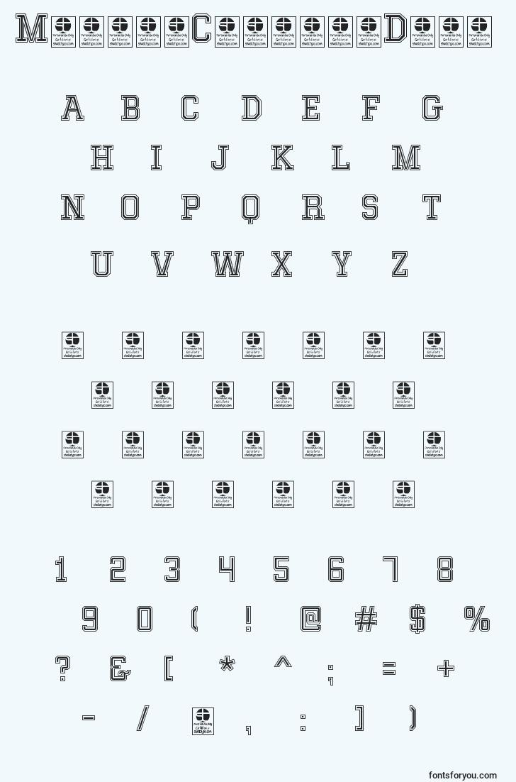 characters of mixivacollegedemo font, letter of mixivacollegedemo font, alphabet of  mixivacollegedemo font